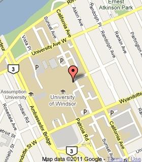Uwindsor Campus Map.The University Of Windsor Historical Plaque