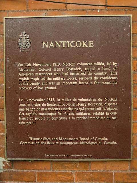 Nanticoke Historical Plaque