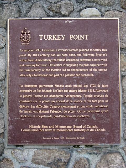 Turkey Point Historical Plaque